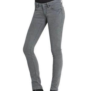 Cabi Stormy Wash Gray Skinny Jean Size 4 # 921